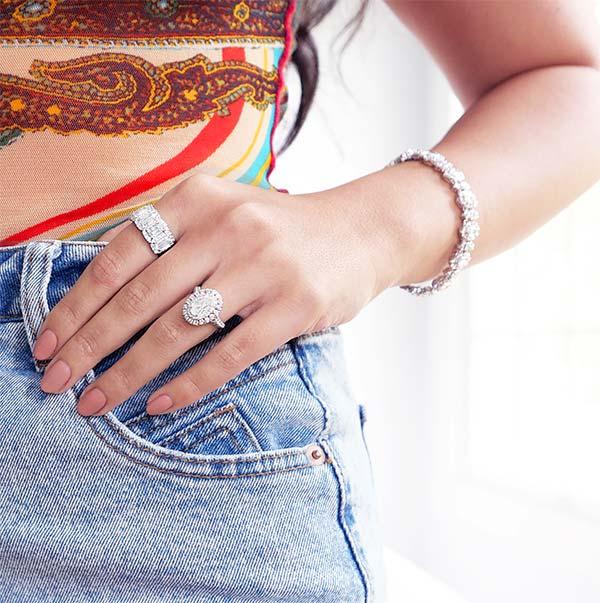 Christopher Designs crisscut bracelet rings