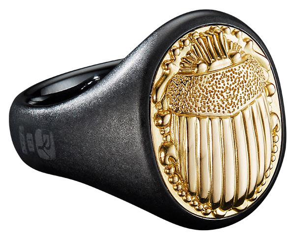 David Yurman petrvs scarab signet ring