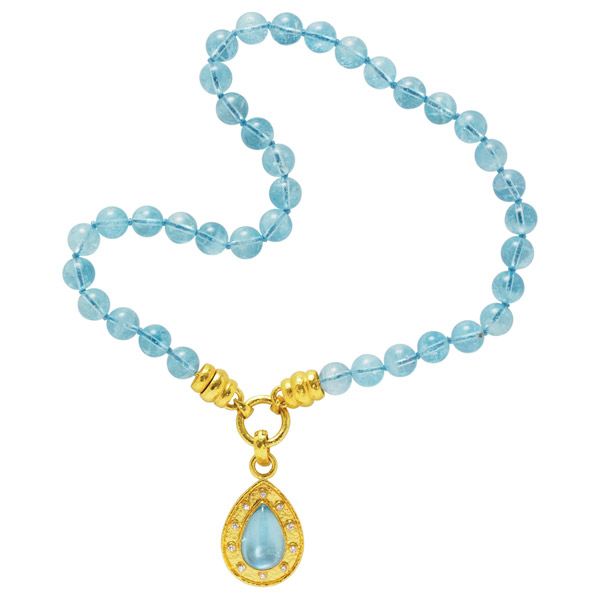 Elizabeth Locke gemstone bead necklace