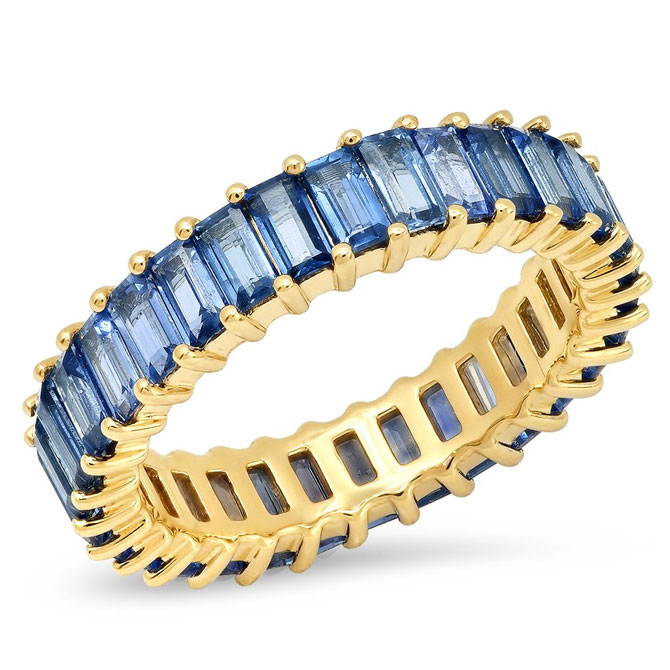 Eriness sapphire baguette ring