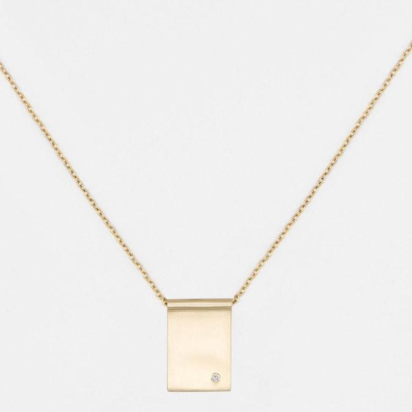 Fewer Finer freckle tag necklace