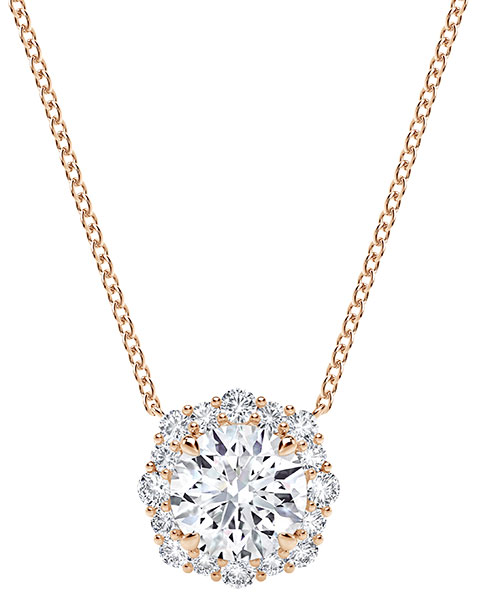 Forevermark center of my universe floral halo diamond pendant