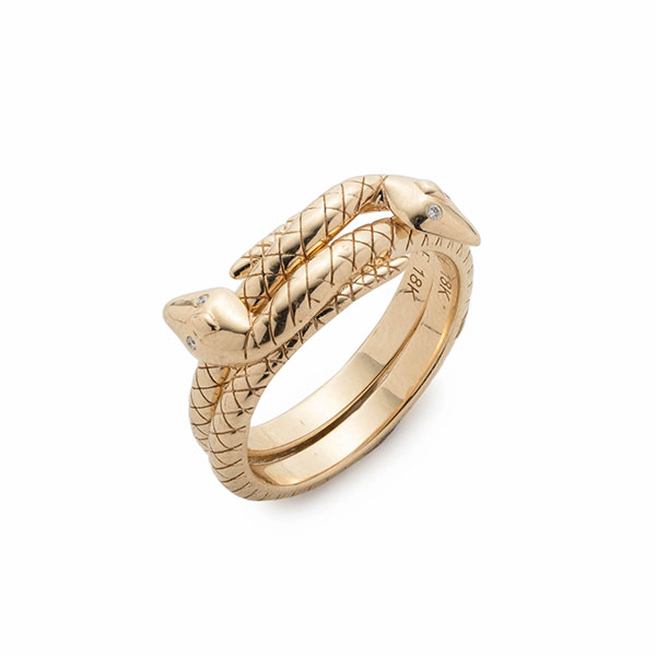 Foundrae Snake Bookends stacking rings