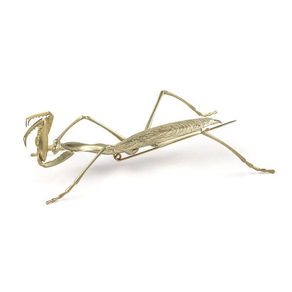Gabriella Kiss praying mantis brooch