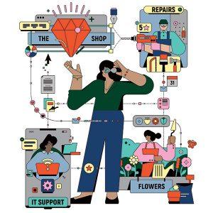 Gig economy illustration