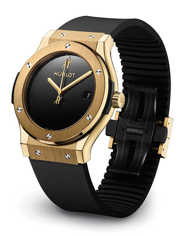 Hublot Classic Fusion 40th anniversary gold watch