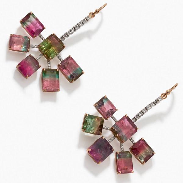 Irene Neuwirth watermelon tourmaline earrings
