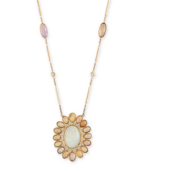 Jacquie Aiche opal Blossom necklace