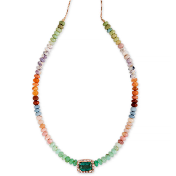 Jacquie Aiche opal tourmaline necklace