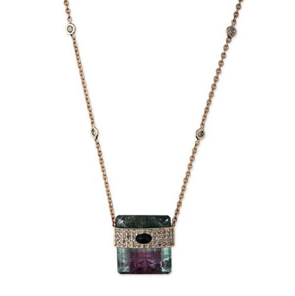 Jacquie Aiche watermelon tourmaline necklace