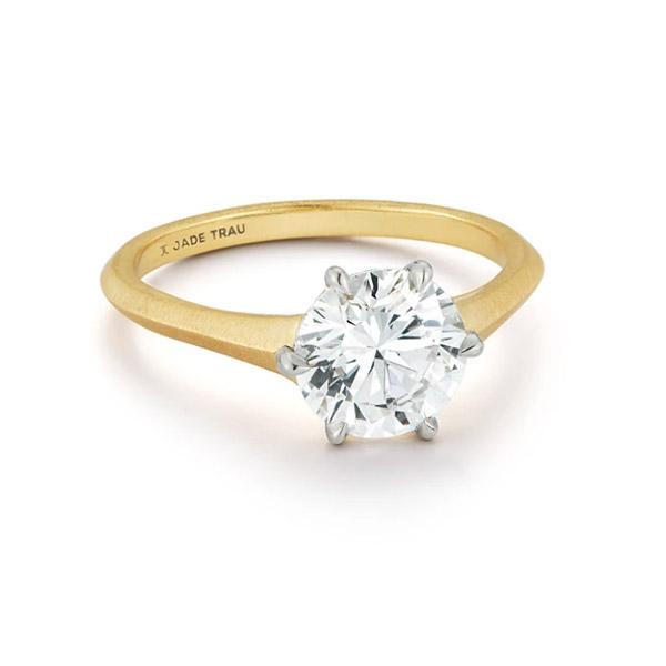 Jade Trau Jenny engagement ring