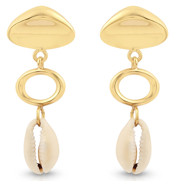 Jam and Rico kingston cowrie earrings
