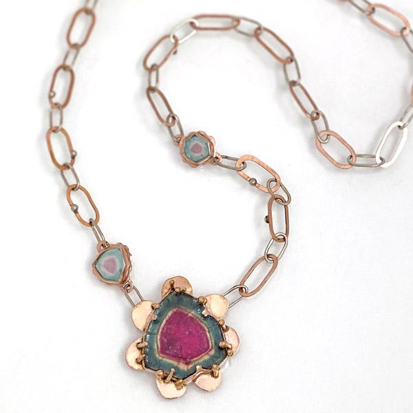 Jen Volkodav tourmaline necklace