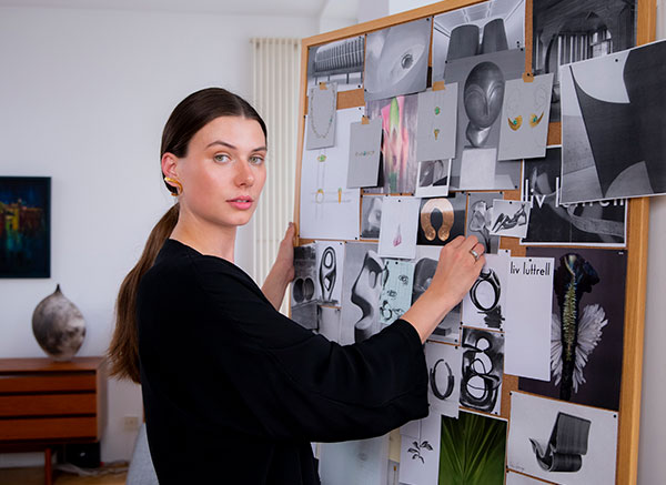 Liv Luttrell in her studio