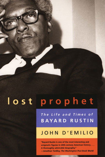 Lost Prophet Bayard Rustin book cover