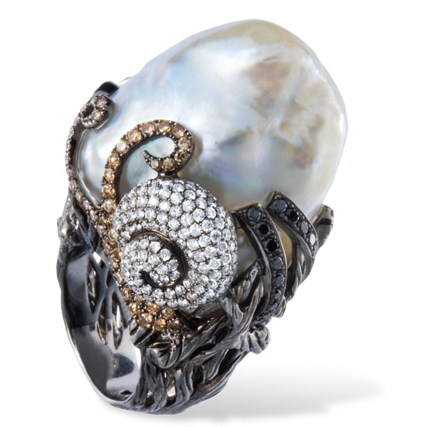 Lydia Courteille pearl ring