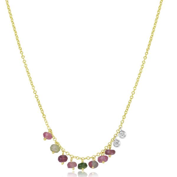 Meira T watermelon tourmaline necklace