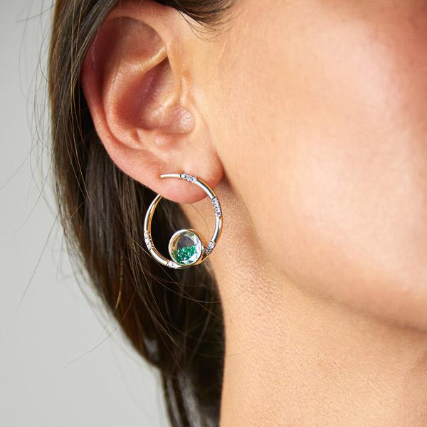 Moritz Glik Caracol shaker earrings
