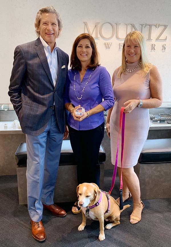 Mountz owners Ron and Tonia Leitzel and Furry Friends prez Robin Scherer