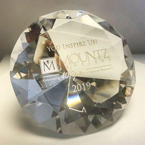 Mountz paperweight for Inspire 40 winners
