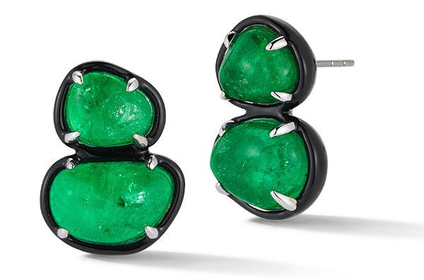 Muzo x Katherine Jetter emerald two tier studs