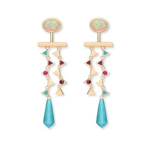 Nouvel Heritage opal dangle Kiss earrings
