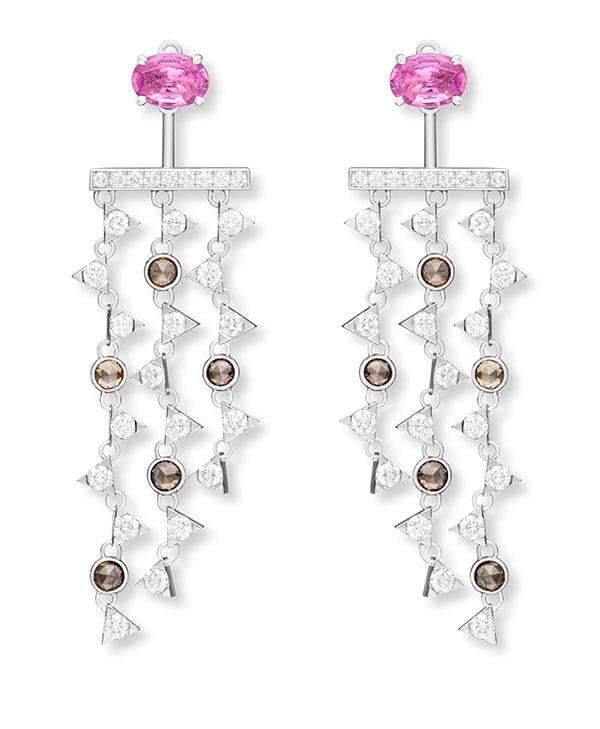 Nouvel Heritage pink tourmaline dangle earrings