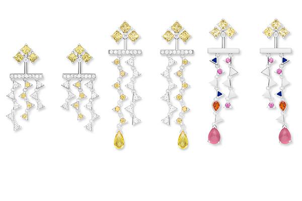 Nouvel Heritage yellow diamond earrings