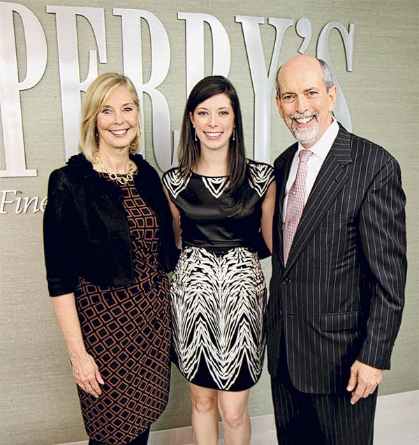 Priscilla Hadley and Ernest Perry of Perrys Diamonds and Estate Jewelry