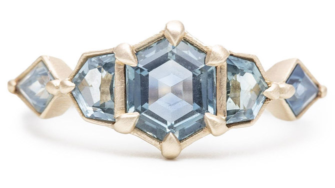Rebecca Overmann Shades of Blue totem ring