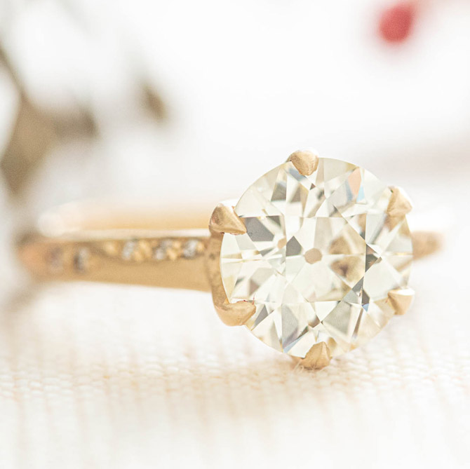 Rebecca Overmann antique engagement ring