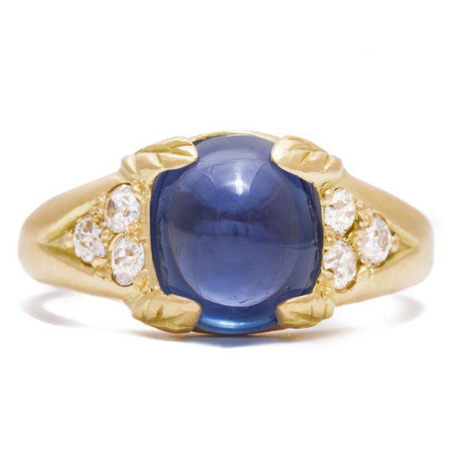 Rebecca Overmann vintage sapphire ring