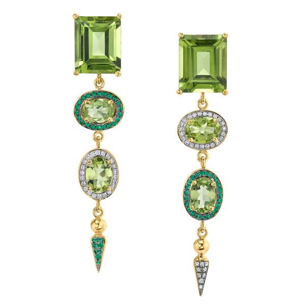 Sarah Hendler Shirley spear cocktail earrings