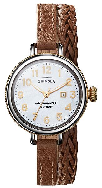 Shinola birdy double wrap leather bracelet
