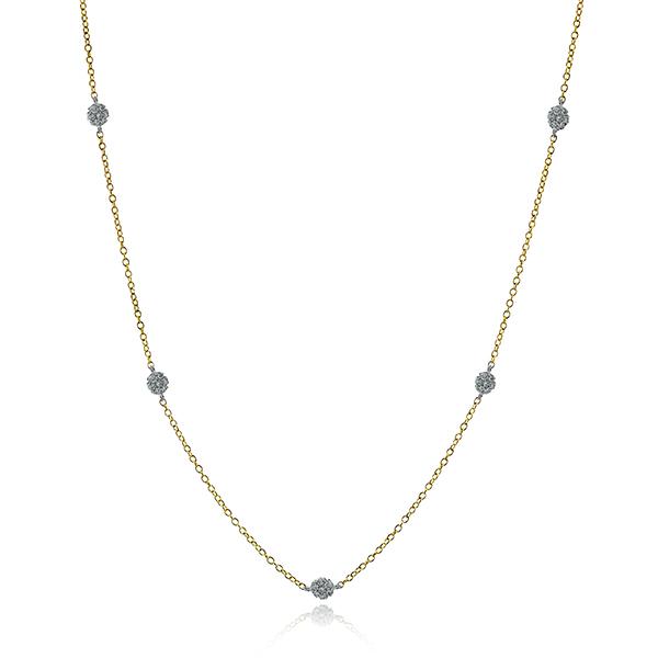 Simon G diamond station necklace
