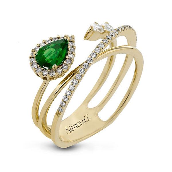 Simon G emerald ring