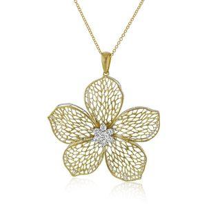 Simon G flower pendant