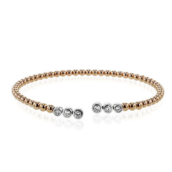 Simon G gold bead bangle