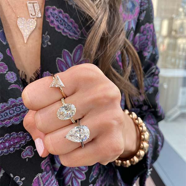 Stephanie Gottlieb fancy shape diamond rings
