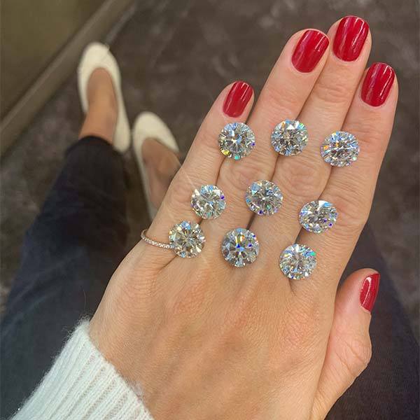 Stephanie Gottlieb with 5 carat diamonds