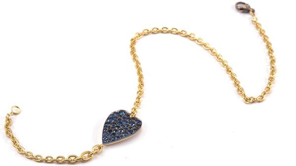 Sylva Cie sapphire heart bracelet