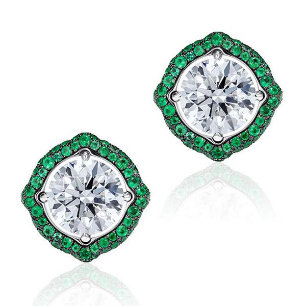 Vanleles Nile emerald earring jackets