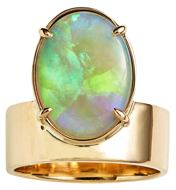 Wwake monolith opal ring