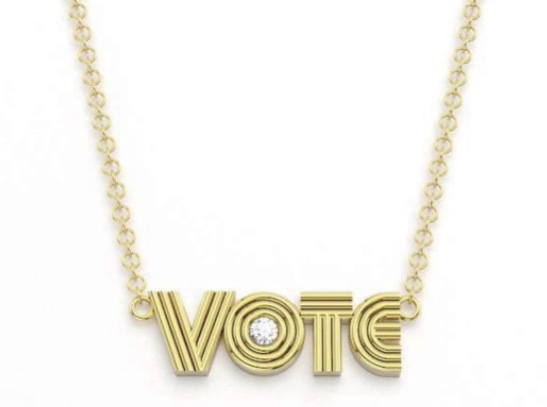 Alexa Sidaris VOTE necklace