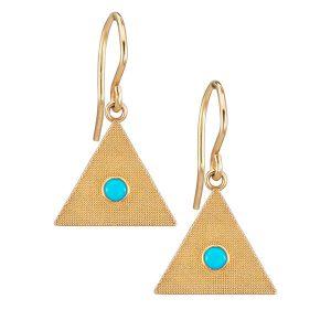 Alice Pierre Sand triangle earrings