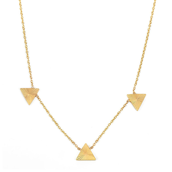 Alice Pierre Starburst triangle necklace