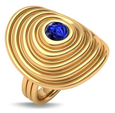 Almasika universum ring with sapphire