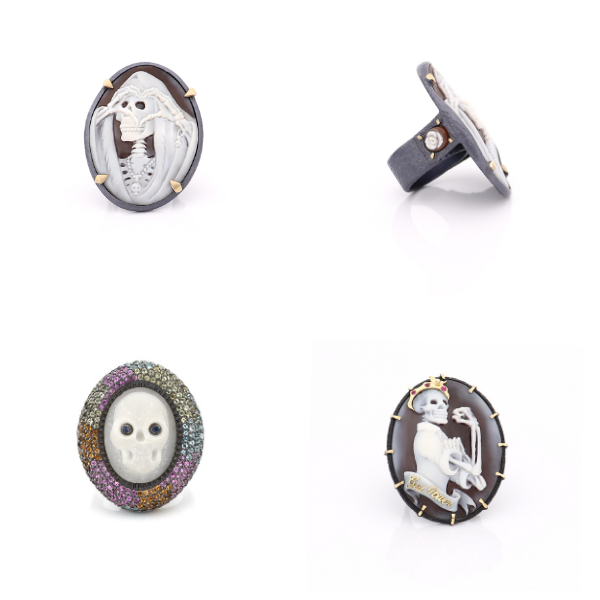 Amedeo cameo rings
