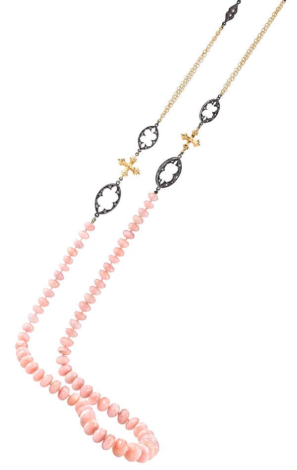 Arman Sarkisyan pink opal diamond necklace