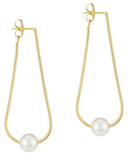 Assael akoya pearl silk earrings